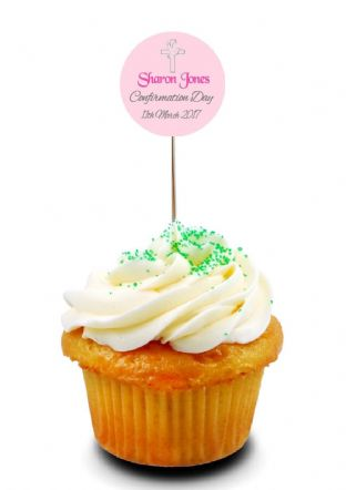 Girl Confirmation Cupcake Topper 2